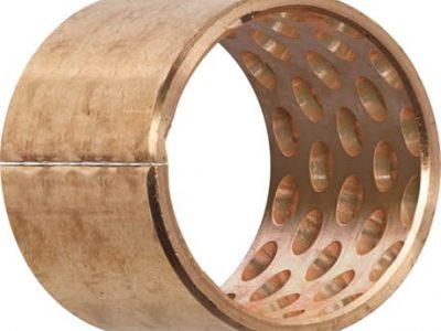 Casquillo de bronce con orificios de lubricación